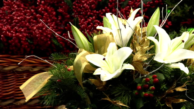 White Lily Floral Arrangement, Spinning video