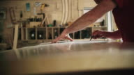 White Male Carpenter in his Forties Marks Metal video