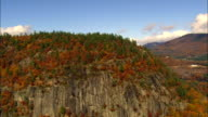 White Mountain National Forest  - Aerial View - New Hampshire,  Carroll County,  United States video