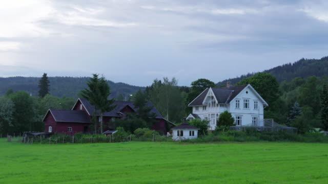 White nights at midnight, village near Oslo, Norway video