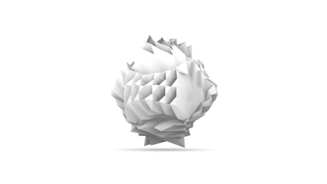White origami style crumpled paper video