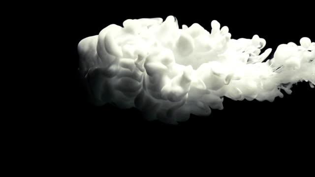 White paint cloud spraying. video