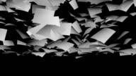 White paper falling video
