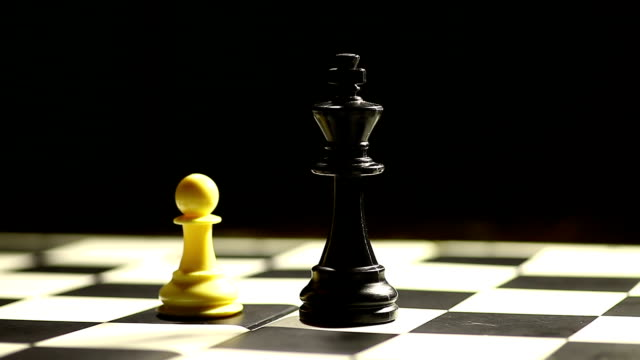 White pawn moves and wins video