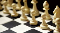 White pawn moving during chess match video