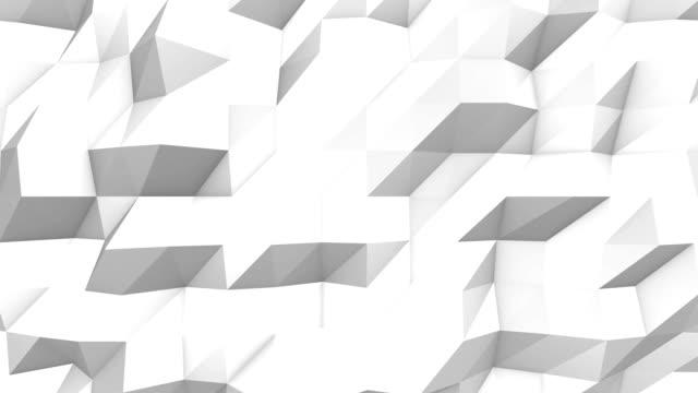 White polygonal 3d background video