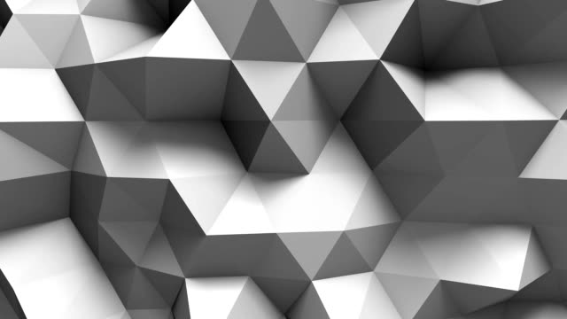 white polygonal geometric surface. computer generated seamless loop abstract motion background. video