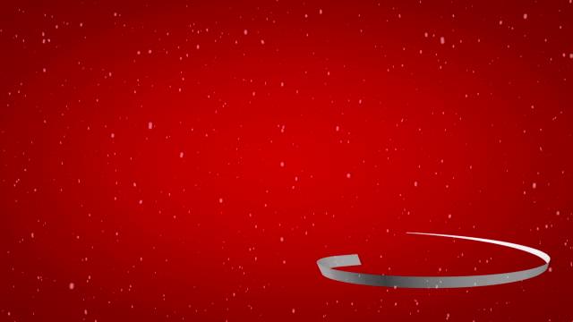 White ribbon christmas tree video