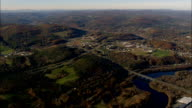 white river junction and west Lebanon - Aerial View - New Hampshire,  Belknap County,  United States video