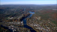 white river junction and west Lebanon - Aerial View - New Hampshire,  Grafton County,  United States video