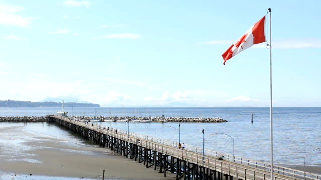 White Rock Pier and Beach, British Columbia video