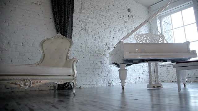 White Room with White Piano video