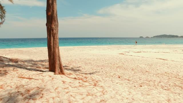 White Sand Beach on Tropical Islands in Summer Season video