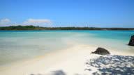 White Sand Beach with Blue Sky in Summer Season video