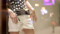 White shorts on store display video