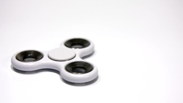 White spinner spinning on a white background. video