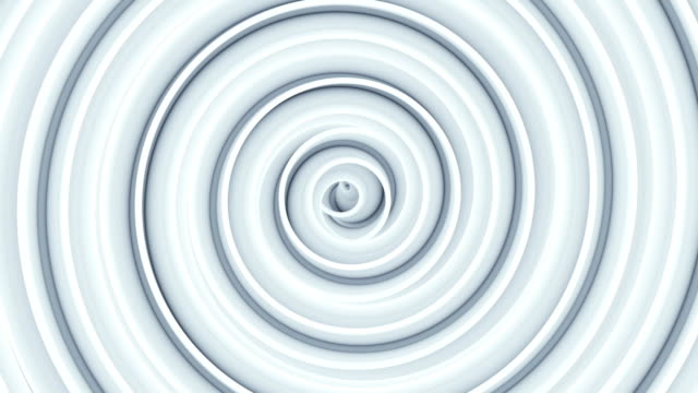 White spiral spinning seamless loop abstract 3D animation video
