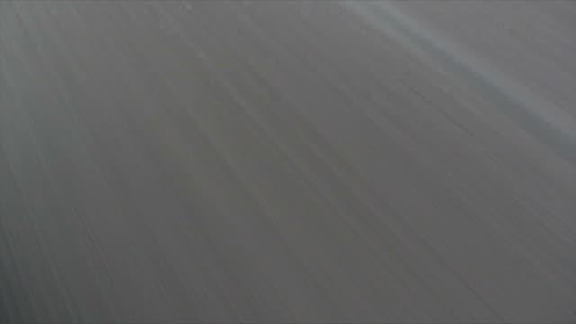White Stripes on Asphalt Road in Motion video