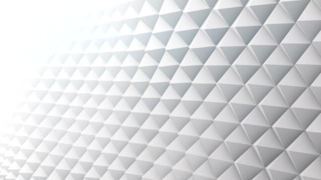 White surface vibrating 3D render. Seamless loop animation video