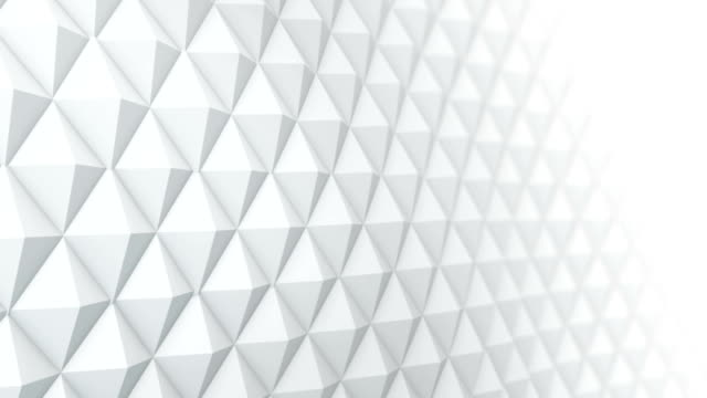 White surface waving 3D render. Seamless loop animation video