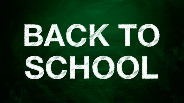 White text 'Back to school.' The effect of the scribble video