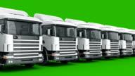 white truck. 3D rendering video