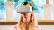 White virtual reality glasses video