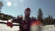 White water kayaking video