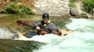 HD SLOW-MOTION: White water kayaking video