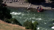 White Water Rafting At Gardiner  - Aerial View - Montana, Park County, United States video