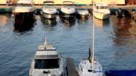 White yachts near pier video