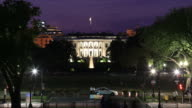 Whitehouse night time lapse video