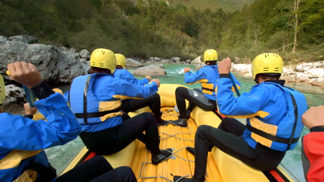 HD SLOW MOTION: Whitewater Rafters In Action video