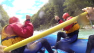 SLO MO Whitewater Rafters In Action video