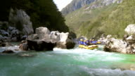 HD: Whitewater Rafters Running Rapids video