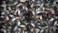 Whole Big Bunch of Canadian Currency Floating By (Loop) video