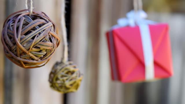 Wicker balls and giftbox video