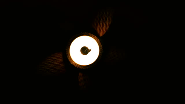 A Wicker Ceiling Fan Needs a Push to Start Spinning video