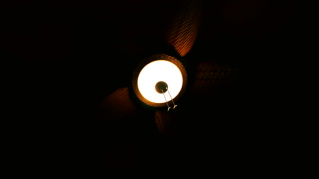 A Wicker Ceiling Fan Spinning 2 video