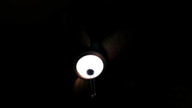 A Wicker Ceiling Fan Spinning video