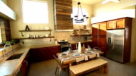 Wide Angle of Modern Industrial Kitchen video