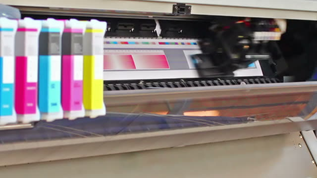 HD: Wide Format Printer Plotter. Printing on roll paper. video