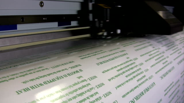 HD: Wide Format Printer Printing Labels video