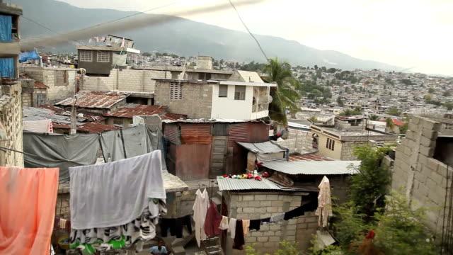 Wide panning shot of Port au Prince, Haiti. video