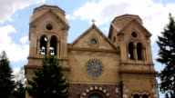 Wide Shot of an Old Stone Catholic Cathedral video
