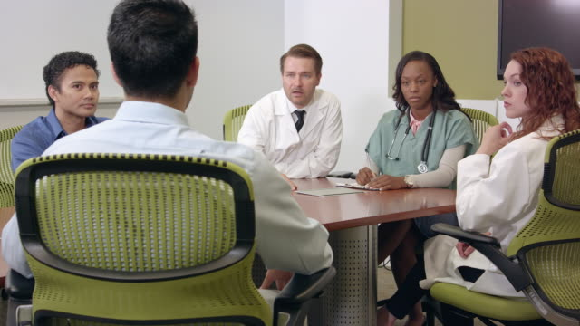 Wide Shot of Medical Professionals in Meeting video