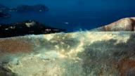 Wide shot panoramic time-lapse of Sicilian Egadi Volcano video