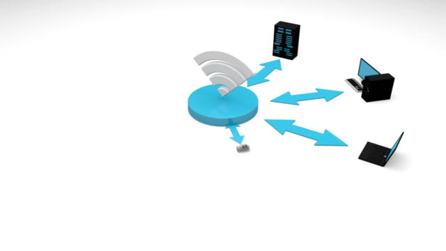 Wifi concept animation. video