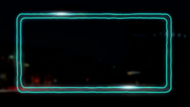 Wiggling neon frame with shines for your headline video