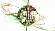 Wild Felt Tip Pen style Spinning globe,loopable video
